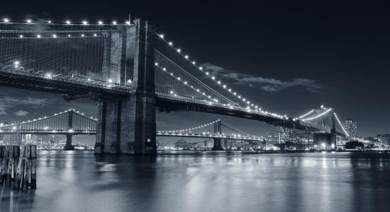 Brooklyn Bridge Night Mural