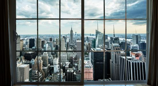 New York through a window Mural
