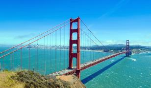 Golden Gate Bridge View Mural