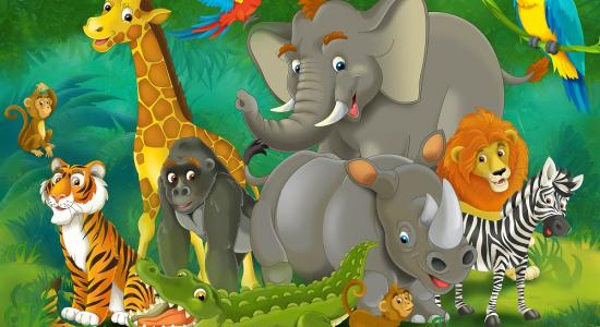 Jungle Family Mural