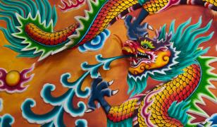 Thai Dragon Mural