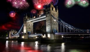 London Bridge Fireworks Mural